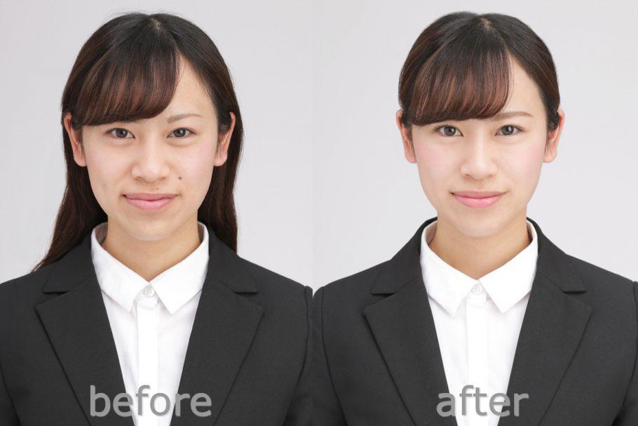 就職活動用(ヘアーメイク付き証明写真/女性限定) before-after