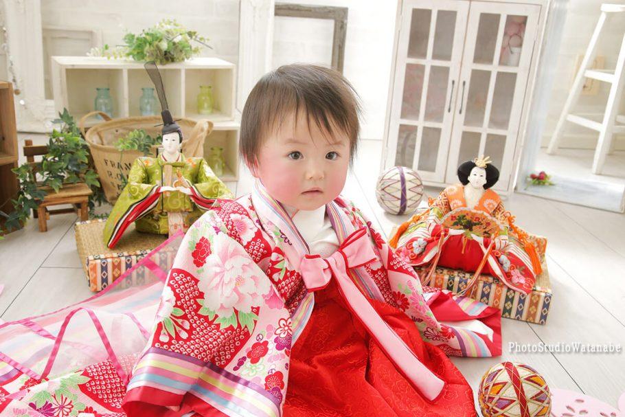 節句記念フォト お雛祭り