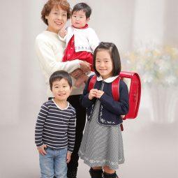 入学記念フォト 家族写真