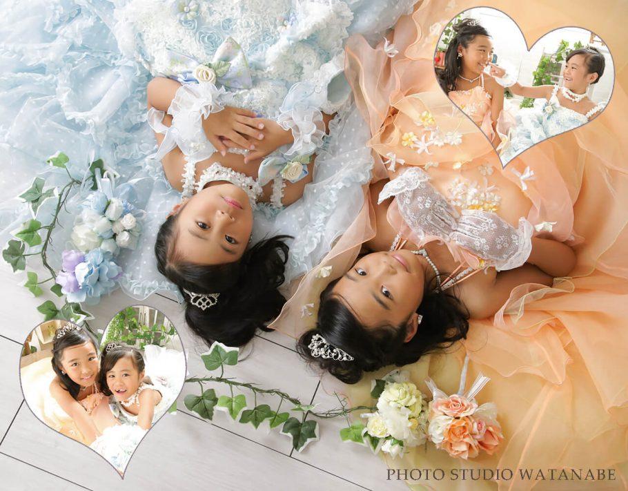 ドレス姿の可愛い姉妹~七五三撮影~
